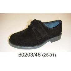 Boys' black suede velcro shoes, model 60203-46