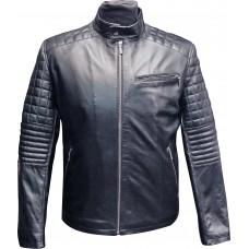 Men's leather jacket summer, model M128