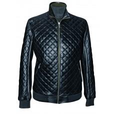 Men's leather jacket mid-season, model M178