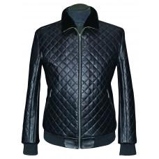 Men's leather jacket winter, model M199