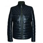 Men's leather jacket mid-season, model M208