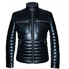 Men's leather jacket mid-season, model M225K