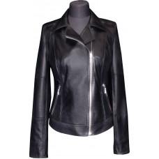 Women's leather jacket summer, model W117