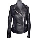 Women's leather jacket summer, model W109