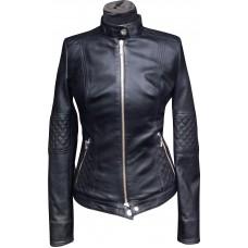 Women's leather jacket summer, model W115
