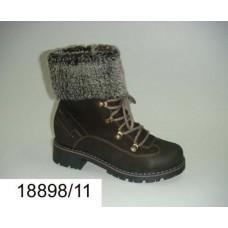Kids' brown nubuck combat boots, model 18898-11