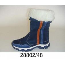 Kids' blue suede warm boots, model 28802-48
