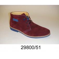 Kids' wine suede boots, model 29800-51