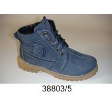 Kids' blue-gray nubuck warm boots, model 38803-5