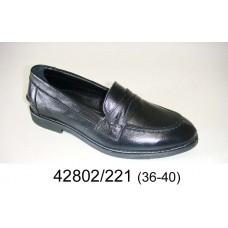 Kids' leather loafer shoes, model 42802-221