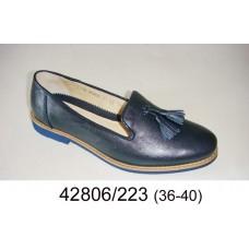 Kids' blue leather tassel-loafers, model 42806-223
