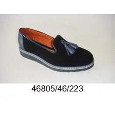 Kids black suede tassel-loafers shoes, model 46805-46-223