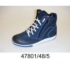 Kids' navy nubuck zip boots, model 47801-48-5