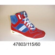 Kids' red suede zip boots, model 47803-115-60