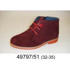 Kids' wine suede boots, model 49797-51