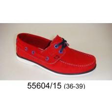 Kids' red suede top-sider, model 55604-15