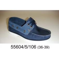 Kids' blue nubuck top-sider, model 55604-5-106