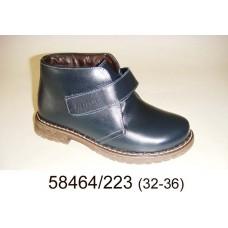Kids' leather warm velcro boots, model 58464-223