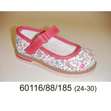 Kids' leather bright shoes, model 60116-88-185