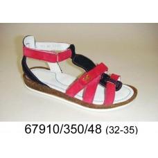 Girls' leather sandals, model 67910-350-48