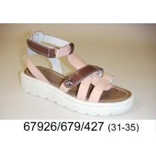 Girls' leather sandals, model 67926-679-427