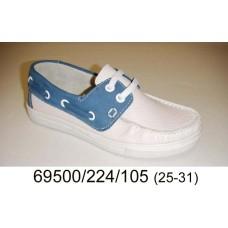 Kids' leather top-sider, model 69500-224-105