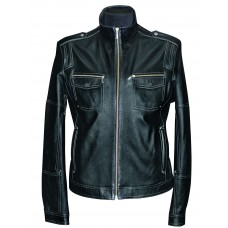 Men's leather jacket summer, model M178/4
