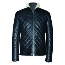 Men's leather jacket winter, model M178D