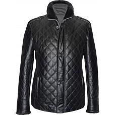 Men's leather jacket winter, model M186D
