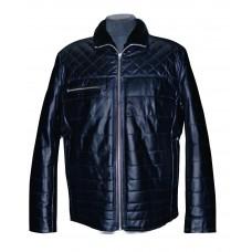 Men's leather jacket winter, model M208D