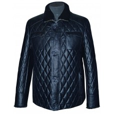 Men's leather jacket winter, model M210/2