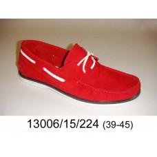 Men's red suede top-sider, model 13006-15-224