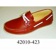 Men's brown leather top-sider, model 42010-423