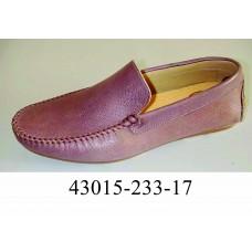 Men's desert leather moccasins, model 43015-233-17