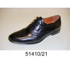 Men's black leather oxford shoes, model 51410-21