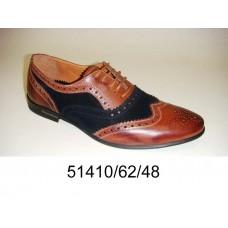 Men's bicolor leather oxford shoes, model 51410-62-48