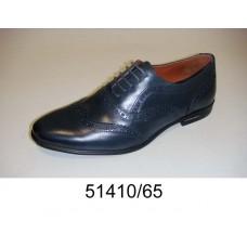 Men's blue leather oxford shoes, model 51410-65