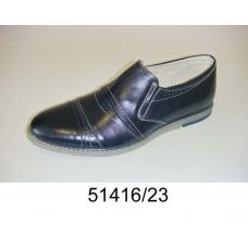 Men's navy leather shoes, model 51416-23