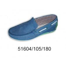 Men's blue nubuck moccasins, model 51604-105-180