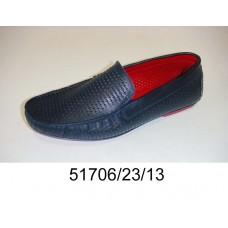 Men's blue leather moccasins, model 51706-23-13