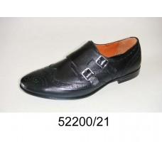 Men's black leather monkton shoes, model 52200-21
