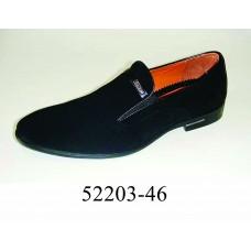 Men's black suede dress shoes, model 52203-46