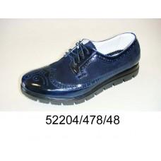 Men's blue leather shoes, model 52204-478-48