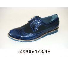 Men's blue leather & suede shoes, model 52205-478-48