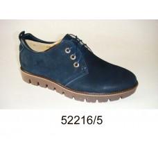 Men's blue nubuck shoes, model 52216-5