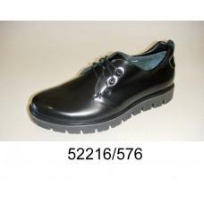 Men's black leather shoes, model 52216-576