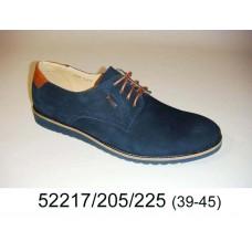 Men's blue nubuck shoes, model 52217-205-225