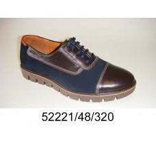 Men's bicolor leather shoes, model 52221-48-320