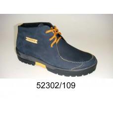 Men's navy nubuck boots, model 52302-109