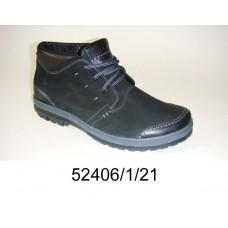 Men's black nubuck boots, model 52406-1-21